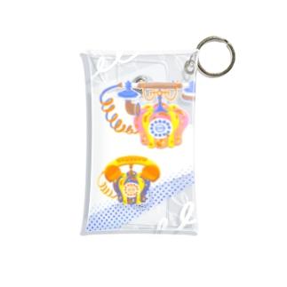 Pumpkin Telephone Mini Clear Multipurpose Case