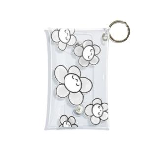 にこにここフラワーモノクロ Mini Clear Multipurpose Case