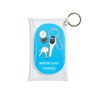 キーケース(ブルー) Mini Clear Multipurpose Case