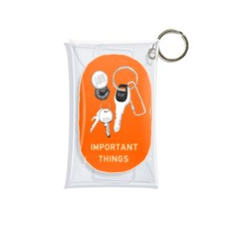 キーケース(オレンジ) Mini Clear Multipurpose Case