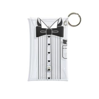 猫ドレスシャツ Mini Clear Multipurpose Case