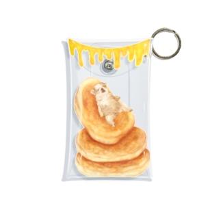 ホットケーキに身をゆだねるパグ Mini Clear Multipurpose Case