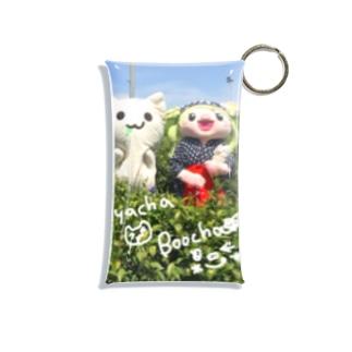 NYACHA & BOOCHA in 狭山茶畑 Mini Clear Multipurpose Case