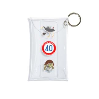 しまのなかま標識+2 シロハラクイナ&ヤエヤマセマルハコガメ Mini Clear Multipurpose Case