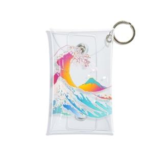 The great rainbow wave - hokusai Mini Clear Multipurpose Case