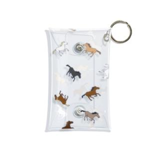 よ〜〜この馬、散らばる Mini Clear Multipurpose Case