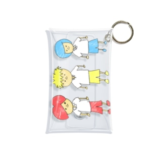 赤青黄の3人組 Mini Clear Multipurpose Case