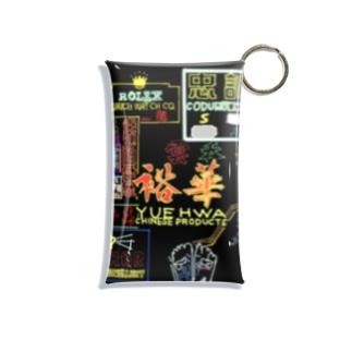 アナログネオン街 Mini Clear Multipurpose Case
