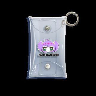 すいすい動物のFACE MAN GODちゃん(Purple) Mini Clear Multipurpose Case