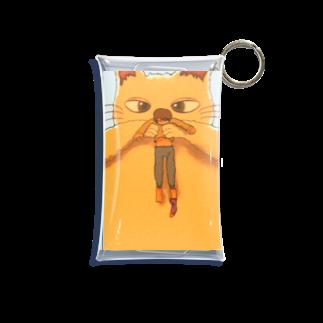 hsysckの猫と人間が逆 Mini Clear Multipurpose Case