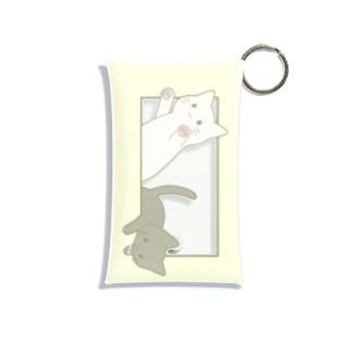 とびだす猫 Mini Clear Multipurpose Case