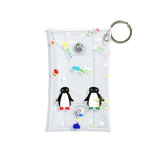ペンギンとお花 Mini Clear Multipurpose Case