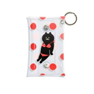赤いビキニの猫 Mini Clear Multipurpose Case