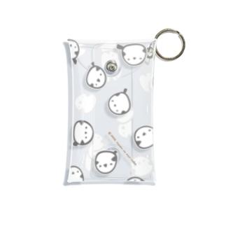 シマエナガいっぱい Mini Clear Multipurpose Case