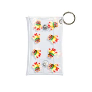 BURGERMAN 青 Mini Clear Multipurpose Case