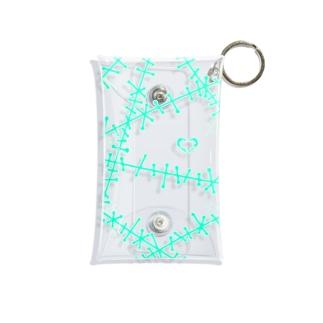 ツギハギ 緑 Mini Clear Multipurpose Case