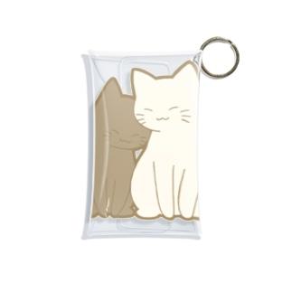 仲良し猫 黒&白 Mini Clear Multipurpose Case