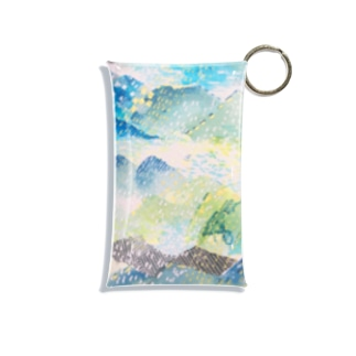 山に雨 Mini Clear Multipurpose Case