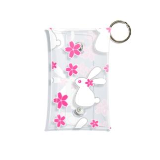 桜とうさぎB Mini Clear Multipurpose Case
