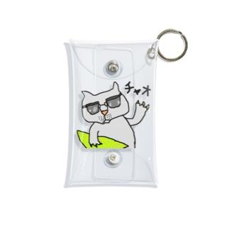 茅ヶ崎在住のサーファー猫 Mini Clear Multipurpose Case