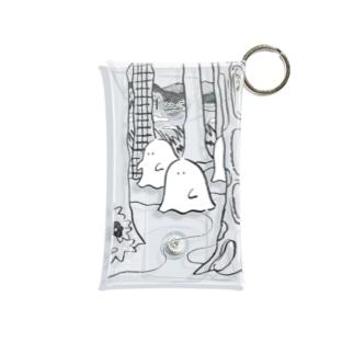 森のオバケちゃん(くろ) Mini Clear Multipurpose Case