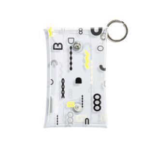 図形パターン Mini Clear Multipurpose Case