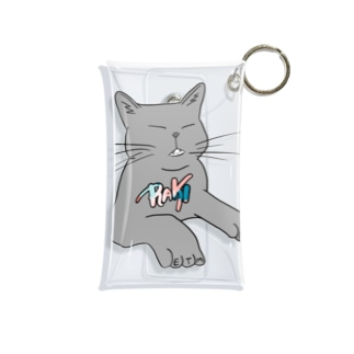 ねこ Mini Clear Multipurpose Case