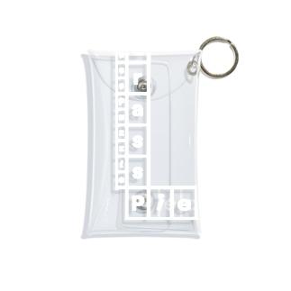Bass Puzzle - バスパズルのクリアケース - Grass Piece / Left Bottom Logo / White Mini Clear Multipurpose Case