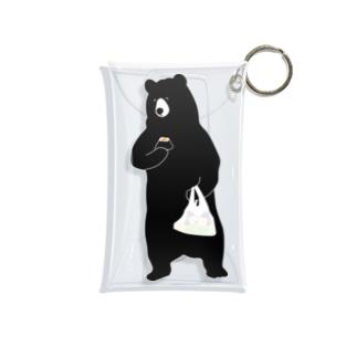 鮭(おにぎり)を捕食する熊 Mini Clear Multipurpose Case