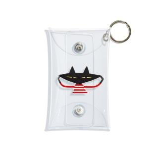 クミン黒ねこ  Mini Clear Multipurpose Case