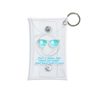 サングラス×スマイル🕶(グレー) Mini Clear Multipurpose Case