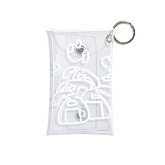 しらがきももえ / ヒラタドリのヒラタドリ(白いおにぎり) Mini Clear Multipurpose Case