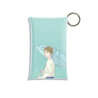 1分前まで、雨 Mini Clear Multipurpose Case
