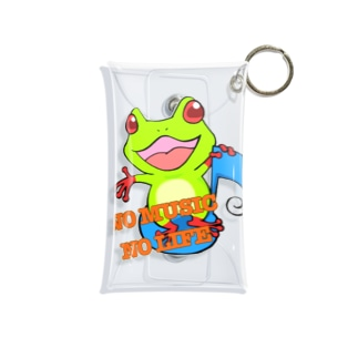 NO MUSIC NO LIFE 🐸 Mini Clear Multipurpose Case