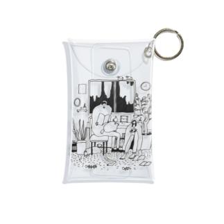 shibaminoruのねこの時間どろぼう Mini Clear Multipurpose Case
