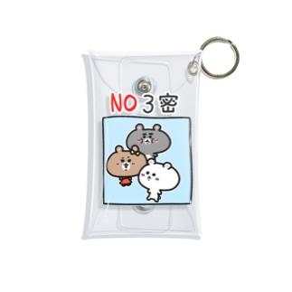 くまコロりん『NO3密』 Mini Clear Multipurpose Case