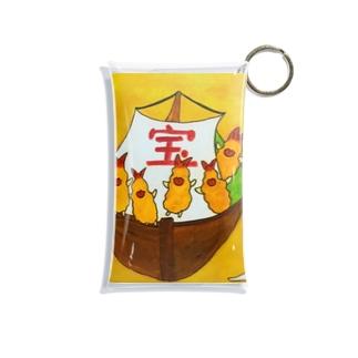 フラちゃんの宝船 Mini Clear Multipurpose Case