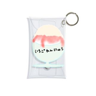 いちご練乳かき氷 Mini Clear Multipurpose Case