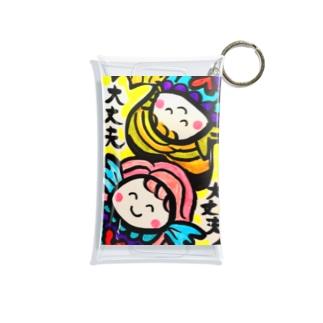 MOMOちゃんの「大丈夫 大丈夫」 Mini Clear Multipurpose Case