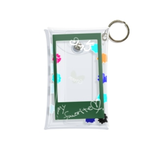 ゆうえんちのポラロイド風 推し色グリーン Mini Clear Multipurpose Case