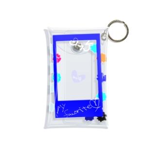 ポラロイド風 推し色 BLUE Mini Clear Multipurpose Case