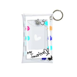 ポラロイド風 推し色 Mini Clear Multipurpose Case