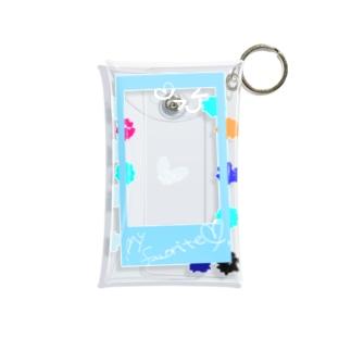 ポラロイド風 推し色らいとぶるー! Mini Clear Multipurpose Case