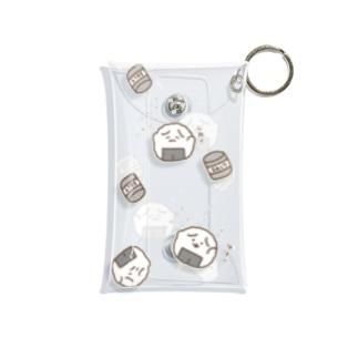 おにぎりわんこ「ゆき?」ミニマルチクリアケース Mini Clear Multipurpose Case