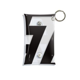 死-黒 Mini Clear Multipurpose Case