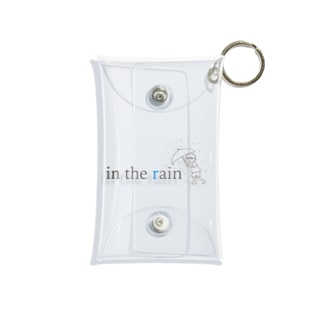雨の中の少年 Mini Clear Multipurpose Case