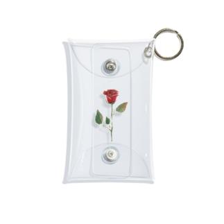 みずみずしいいきもの〈薔薇〉 Mini Clear Multipurpose Case