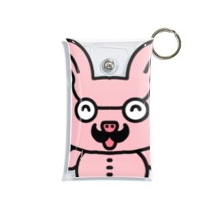 おじさんウサギ Mini Clear Multipurpose Case