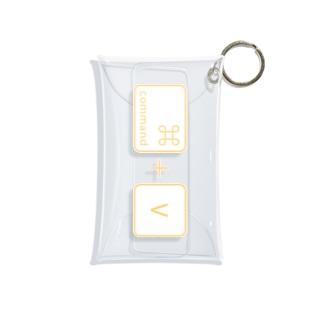 command+V Mini Clear Multipurpose Case