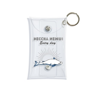 MECCHA NEMUI さめ Mini Clear Multipurpose Case